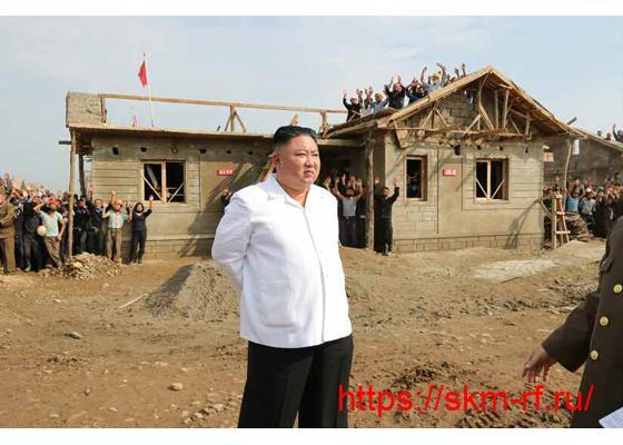 Товарищ Ким Чен Ын руководил на месте восстановительными  работами в провинции Северный Хванхэ