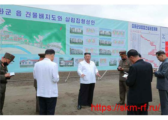 Товарищ Ким Чен Ын руководил на месте строительными и  восстановительными работами в уезде Кимхва