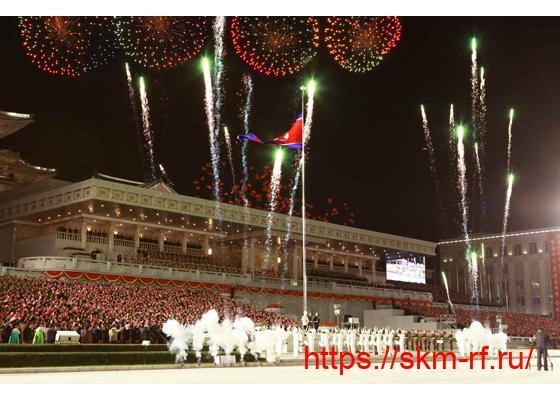 В Пхеньяне прошёл торжественный военный парад в честь 75-летия основания ТПК