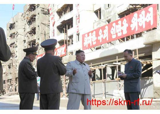 Товарищ Ким Чен Ын руководил восстановительными работами в Южном Хамгёне